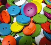 Random Mixed 2 Holes Wooden Buttons Scrapbooking 20mm Decorative Buttons Apparel Sewing 50Pcs/lot