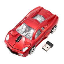 2.4GHz Car Mouse Wireless Racing Car Shaped Optical USB Mouse/Mice 3D 3Buttons 1000 DPI/CPI Wireless Mause for PC Laptop Desktop