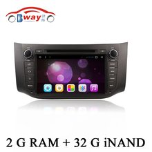 Android 6.0 car Radio for NISAN SYLPHY 2012 2013 2014 car dvd player 1024*600 2 din in dash car audio external Microphone
