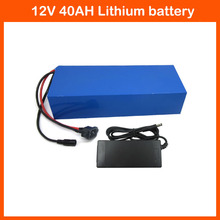 Hot sale 3S 12 V battery 300W 12V 40AH Lithium Battery Pack 12V 40AH Rechargeable Battery with 30A BMS 12.6V 3A charger(China)