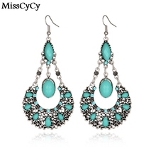 MissCyCy 2016 New Vintage Jewelry Bohemia Pending Water Droplets Drop Earrings For Women Online Shopping India