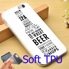 Beer Bottle Number TPU Phone Cover Case for iPhone 6 6S 7 Plus 5S 5 SE 5C 4 4S ( Soft TPU / Hard Plastic for Choice )
