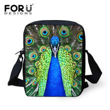 Girls Mini Travel Bags Zoo Peacock School Bags High Quality Cheap Small Shoolbags Single Shoulder Children Students Bookbags(China)