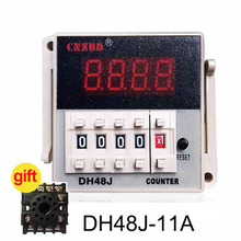 DH48J-A AC220V 3A Electrical Digital Counter,Preset 11 Feet Relay With Power Failure Memory Function
