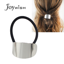Joywish 2017 Lovely Fashion Hair Jewelry Elastic Rope With Gold-Color Silver Color Metal Sheet HeadbandsHairwear For Women