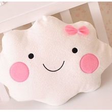 35cm cute plush toy children mini cloud holding pillow kawaii baby cloud pillow plush doll best birthday gift for children(China)