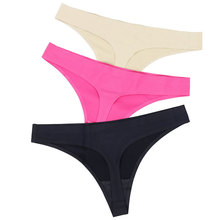 Buy Hot Silk Sexy Women Thongs g string Seamless Panties Female Underwear Sexy Tanga Panties Women Low-Rise Lingerie Panty Intimates