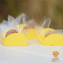 100pcs Yellow cupcake wrappers wedding supplies birthday party  favors chocolate candy box forminhas para doces AW-0517