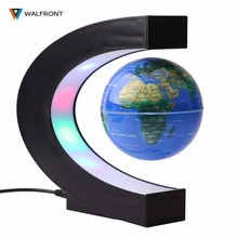 LED World Map Floating Miniature Globe Figurine Tellurion Magnetic Levitation Light World Map US/EU Home Decoration Accessories