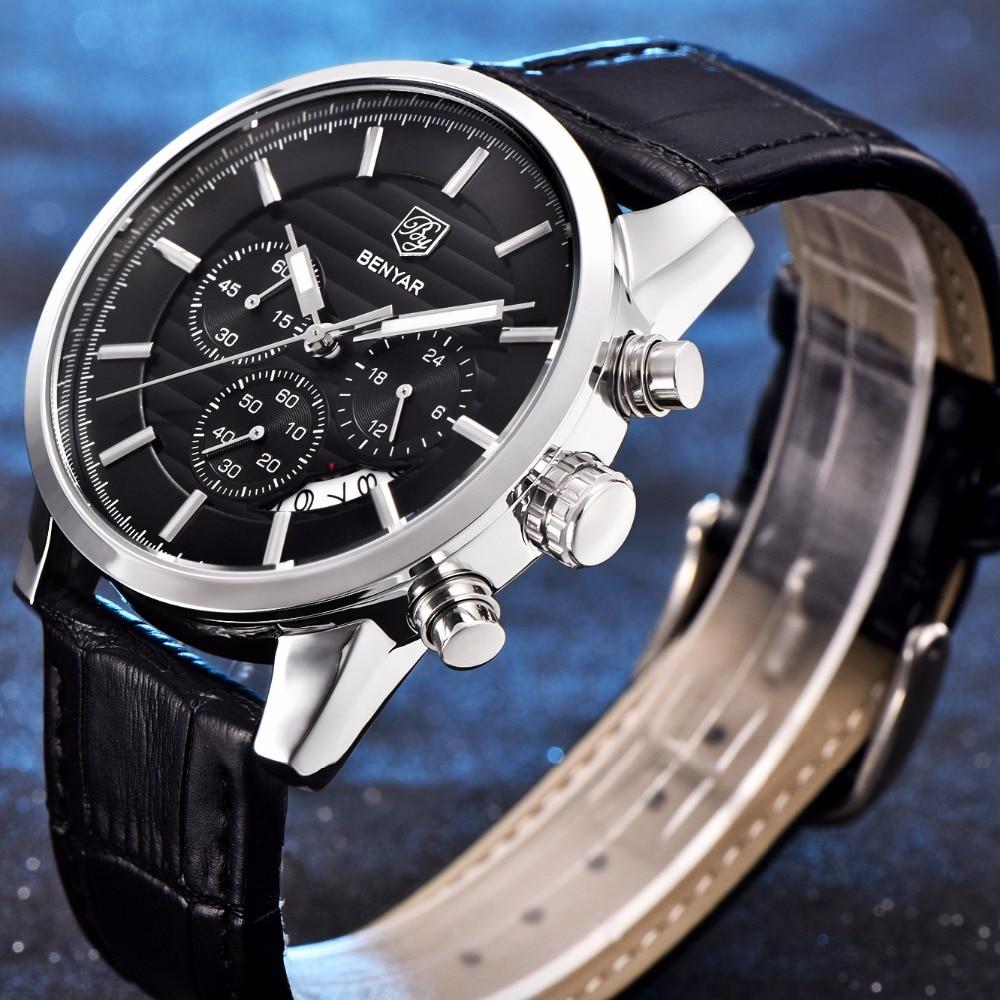 BENYAR Fashion Business Watches Men Luxury Brand Chronograph Sport Waterproof Quartz Wrist Watch Male Clock Hodinky reloj hombre<br><br>Aliexpress