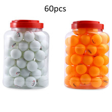 60pcs Durable 40mm 2.6g Ping Pong Ball Professional 3 Star Table Tennis Balls for Table Tennis Training Yellow White(China)