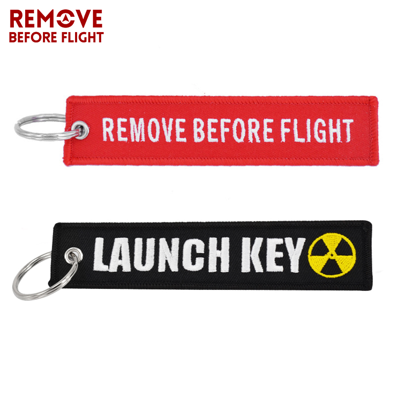 New Fashion Nuclear Launch Key Chain Bijoux Keychain for Motorcycles and Cars Gifts Tag Embroidery Key Fobs OEM Keychain Bijoux 1