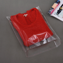 Clear Transparent 100pcs OPP Plastic Bag for Coat 35 x 45 cm+4cm Flap Self Adhesive Seal Magazine Colth Packaging Bags