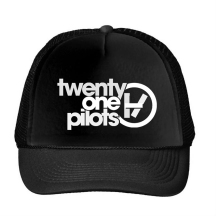 twenty one pilot Letters Print Baseball Cap Trucker Hat For Women Men Unisex Mesh Adjustable Size Drop Ship M-166