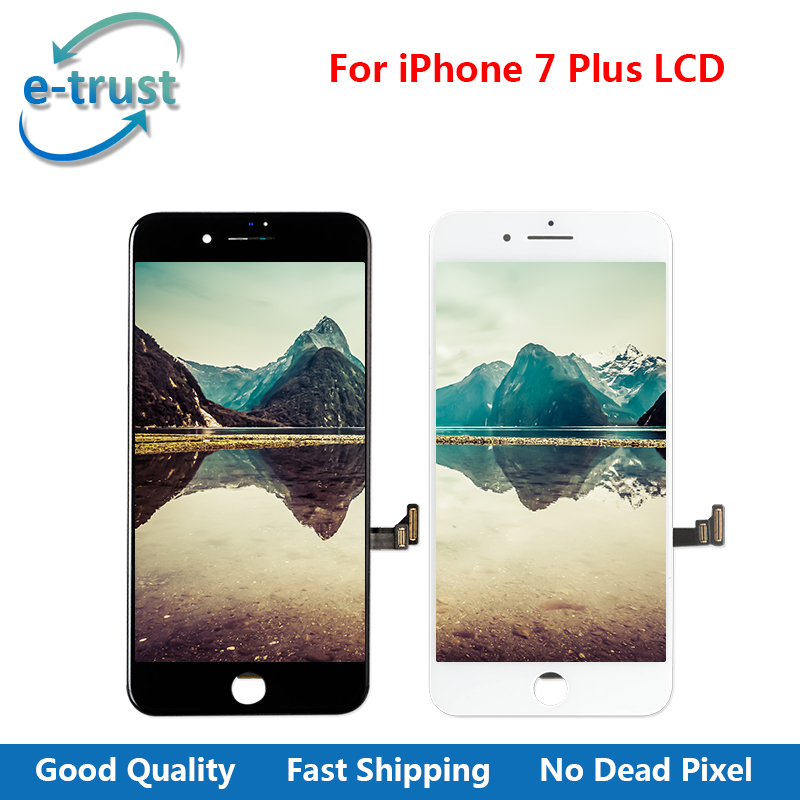 e-trust 2PCS/LOT Top AAA+ Quality LCD For iPhone 7 Plus 5.5 inch Display Touch Screen Digitizer Assembly With Fast Free Shipping(China (Mainland))
