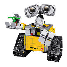New Ideas WALL-E Robot Model Building Kits Children Educational Assembly WALL E Bricks Blocks Toy Brand Compatible