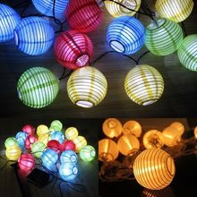 New Year China Lantern LED Strip 10 LED Solar LED Lampionkette Lichterkette Mit Christmas Decorations For Home Outdoor Navidad