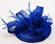 Sinamay Hat Fascinator Feather Flower Hair Clip Wedding Hats And Fascinators Bridal Hair Acessories Chapeu Casamento WIGO0514