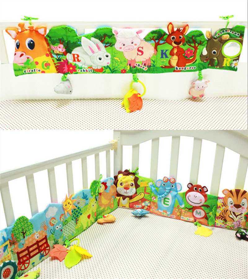Baby Toys Soft Animal Cloth Books Newborns 0-12 Months Infant Development Rustle Sound Educational Stroller Rattles Toy Bed