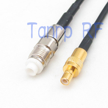 6in FME female jack to SMB male pug RF connector adapter 15CM Pigtail coaxial jumper RG174 extension cord cable(China)