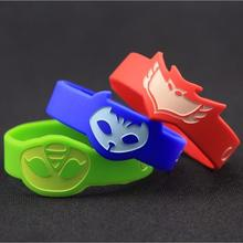 3style PJ MASKS Wristban Characters Catboy Owlette Gekko Cloak Masks Action Figure Toys Silica gel Children Gifts Cosplay Toy