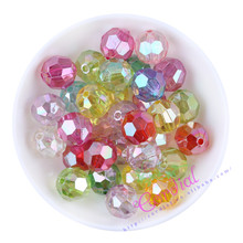 16MM 210Pcs/Lot Mix Colors Spring Color AB Faceted Beads Chunky Beads For Necklace Jewelry Ebay Amazon Supplier Beads Vendor
