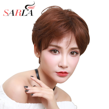 "SARLA 10"" Straight Short Wigs Synthetic Hair High Temperature Fiber 6 Colors Available Unisex Hair Wigs Cancer Daily Wigs(China)"