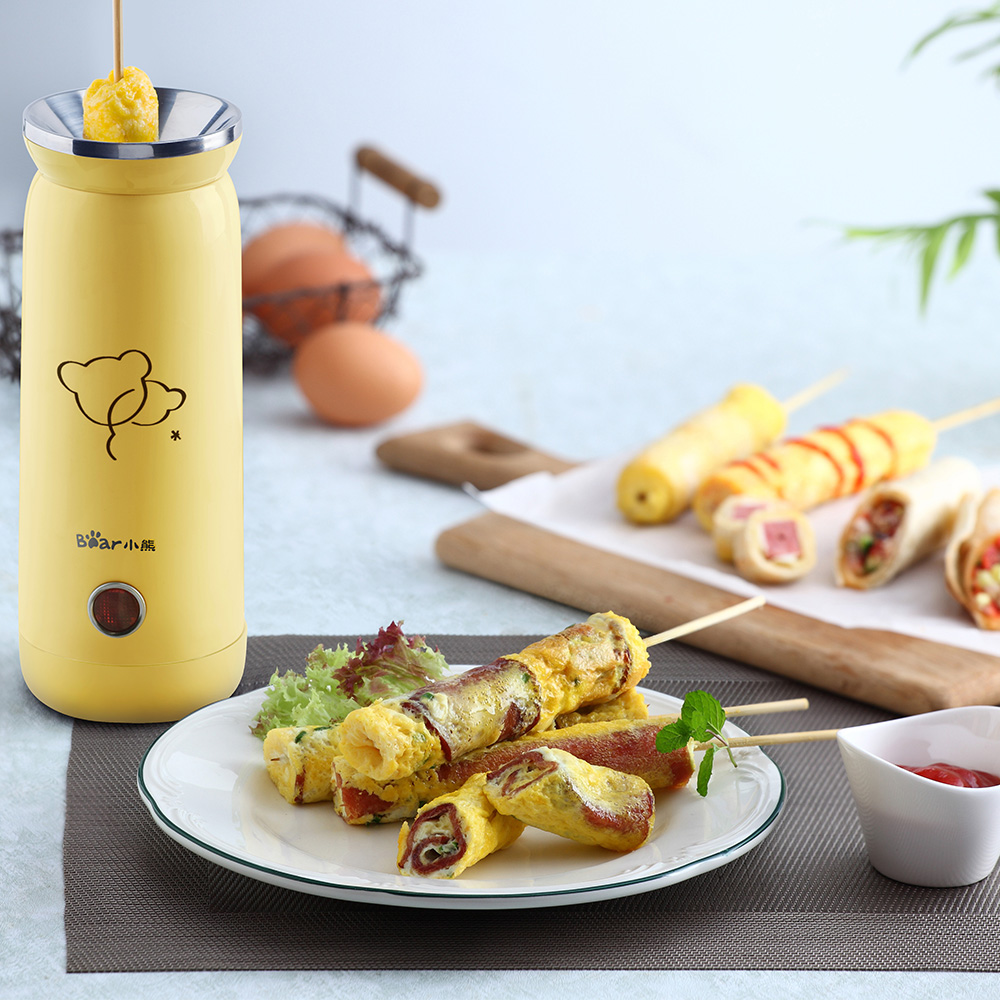 220V Automatic Electric Egg Roll Maker Egg Boiler Non-stick Egg Cup Omelette Sausage Machine Removable Bottom Plug Easy To Clean<br>