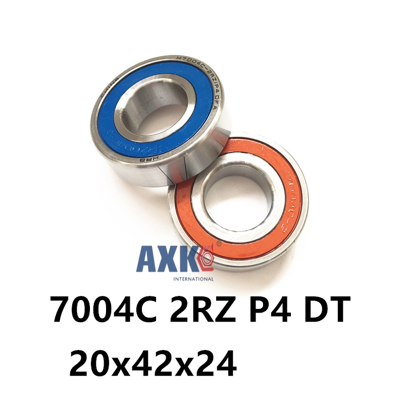 1 Pair AXK  7004 7004C 2RZ P4 DT 20x42x12 20x42x24 Sealed Angular Contact Bearings Speed Spindle Bearings CNC ABEC-7<br>