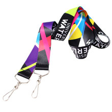 free shipping custom sublimation printed keychain neck strap lanyard
