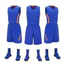 Men's blank  Sleeveless basketball jerseys men plain basketball sets adult  breathable running suits male vest and shorts