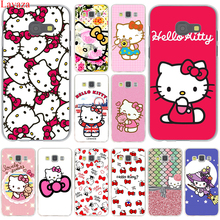 Fashionable Hello Kitty Hard Case Cover for Samsung Galaxy A3 A5 J3 J5 J7 2015 2016 2017 & Grand Prime Note 2 3 4 5