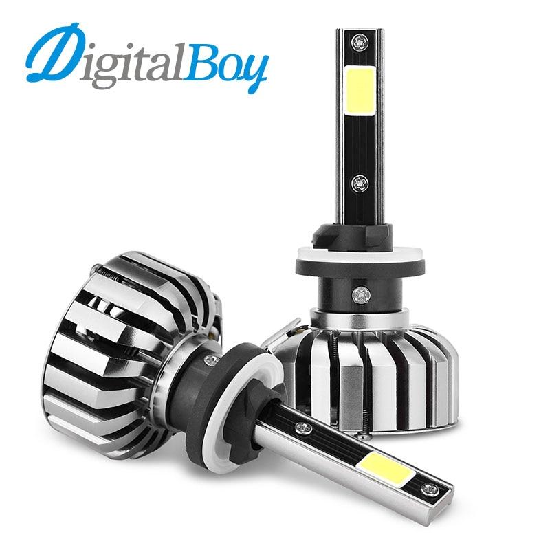 DIGITALBOY 80W LED Headlight 8000LM 880 881 LED Headlights H27 Car Bulbs 6000K White Single Beam Car Front lights Headlamp<br>