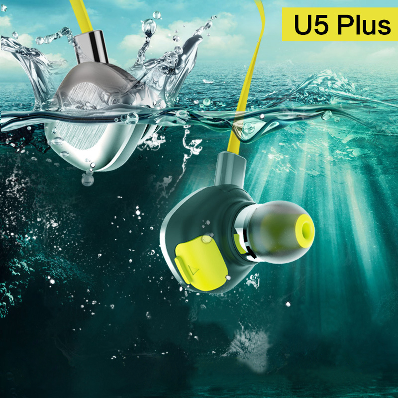 2017 U5 Plus IPX7 Waterproof Wireless Earphone Running Sport Bluetooth Headset Magnetic Hifi Stereo Auriculares with Mic NFC<br>