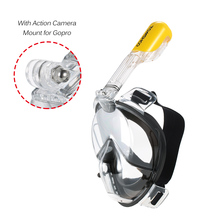TOMSHOO Snorkeling Mask Set Full Face Diving Mask Anti Fog Scuba Diving Mask Underwater Swimming Goggles Tube for GoPro Camera(China)