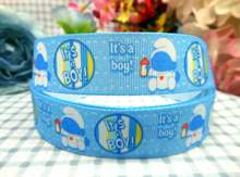 6mm-75mm MD1501125-22-2870 Love Blue Color Baby Series Printed Grosgrain Ribbon DIY Handmade Hair Accessories