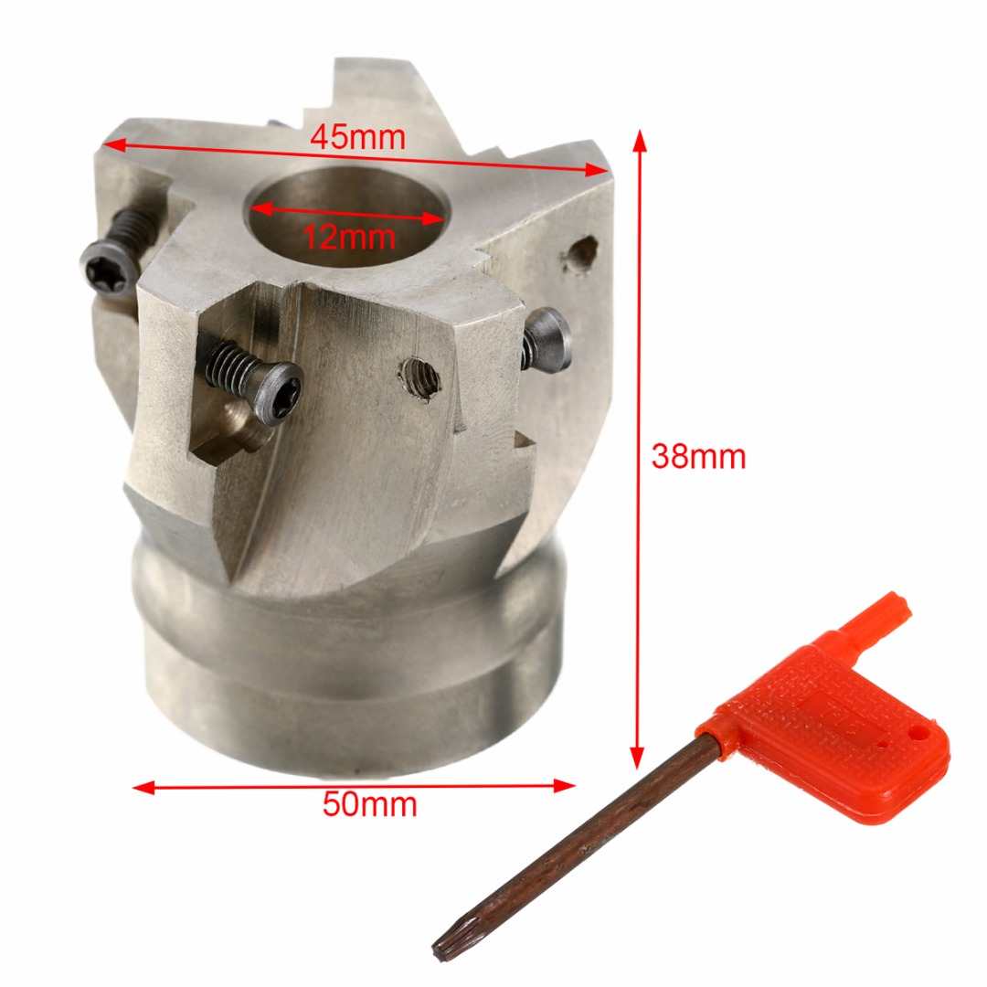 1pc BAP400R-50-22-5F Indexable Face Mill 50mm CNC Milling Cutter with T15 Wrench For APKT 1604 Insert