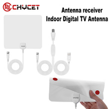 Digital Indoor Amplified TV Antenna View TV Flat HD with Amplifier 25 Miles Range digital tv signal amplifier antenna antennas
