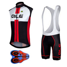 ALE Sleeveless Cycling Jersey Set 2017 Men's Summer Style Bicycle Ropa Ciclimo Hombre mtb Bike Sport Cycling Clothing Red Blue(China)
