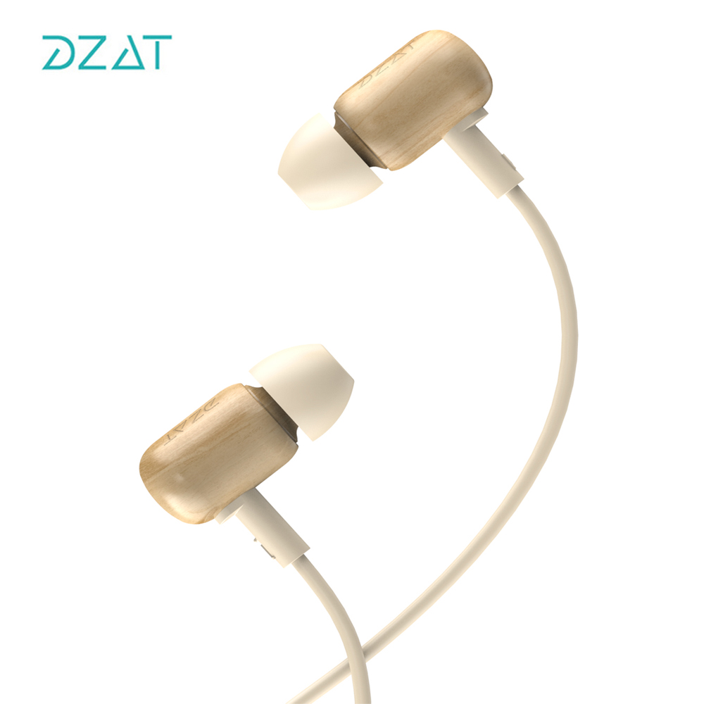 DZAT In-Ear Wired Earphone Stereo Metal Headset with Mic Microphone for mobile phones Iphone Samsung Huawei Xiaomi<br>