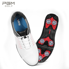 2017 brand men golf shoes waterproof super-fibre leather shoes male breathable shoes slip-resistant white black golf spikes(China)