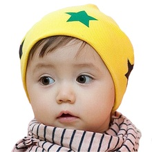 Cute Stars Spring Autumn Baby Hat Caps Infant Hats Baby Boy Beanie Kids Girl Cap Cotton Hats for 0-3 Y Baby Clothes Accessory