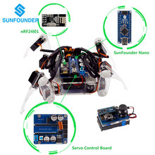 SunFounder DIY Smart Robot Electronic Crawling Spider Quadruped Robot Kit for Arduino With Nano Board(China)