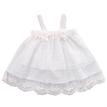 Baby Kids Girls Lace Tutu dress baby clothing Summer Sleeveless Princess Party Flower Tutu Dress Clothes