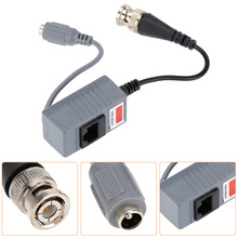 High Quality and Durable CCTV Camera Video Balun Transceiver BNC UTP RJ45 Video and Power over CAT5/5E/6 Cable(China)