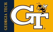 customer design flag Georgia Tech Yellow Jackets 90x150cm polyester digital print banner with 2 Metal Grommets 3x5ft(China)