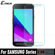 Tempered Glass For Samsung Galaxy Xcover Ace 4 Golden 2 3 W2016 W2015 W2014 W2013 E7 E5 Z3 Z1 G5308 Screen Protector Film(China)