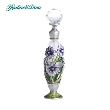 5ml Retro Antique Glass Perfume Bottle 4.1*0.9*0.9 inch Flower Empty Cosmetic Container Wedding Decoration Refillable Bottle(China)