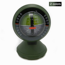 2017 New Outdoor Multifunction Car Inclinometer Angle Slope Meter Balancer Measure Vehicle Compass Tool green black 2 colors(China)