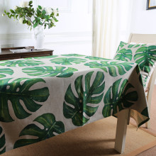 Custom Made Tropical Rain Forest Botanical Garden Tablecloth Table Cover Cloth Linen Tea Table Cloth TV Refrigerator Cover Cloth
